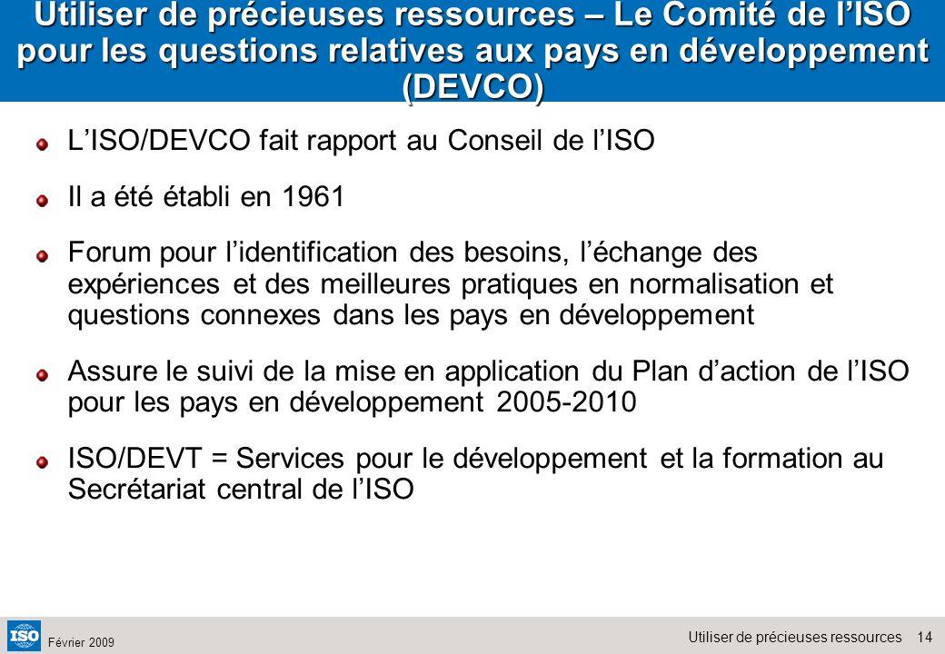 Utiliser de précieuses ressources – Le Comité de l'ISO pour les questions relatives aux pays en développement (DEVCO)