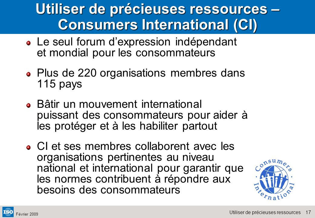 Utiliser de précieuses ressources – Consumers International (CI)