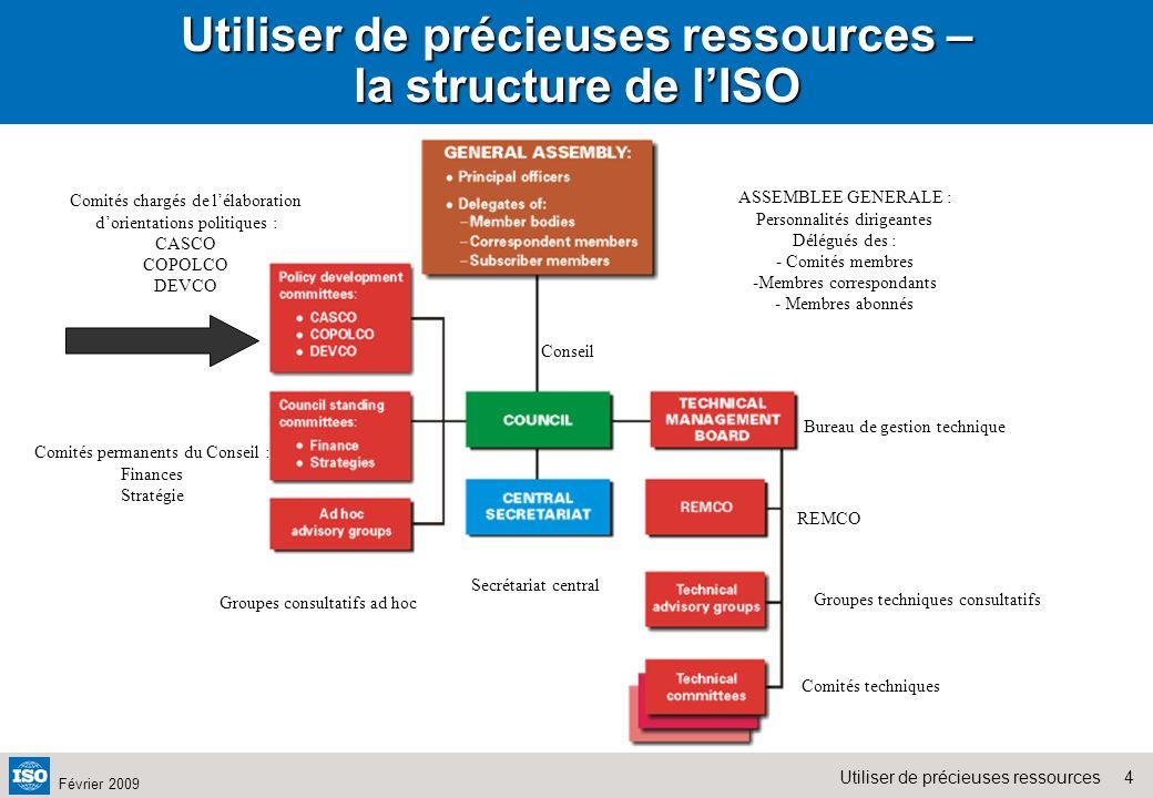 Utiliser de précieuses ressources – la structure de l'ISO