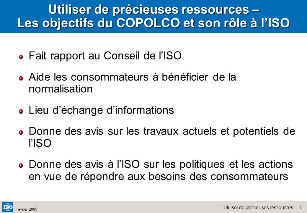 Utiliser de précieuses ressources – Les objectifs du COPOLCO et son rôle à l'ISO