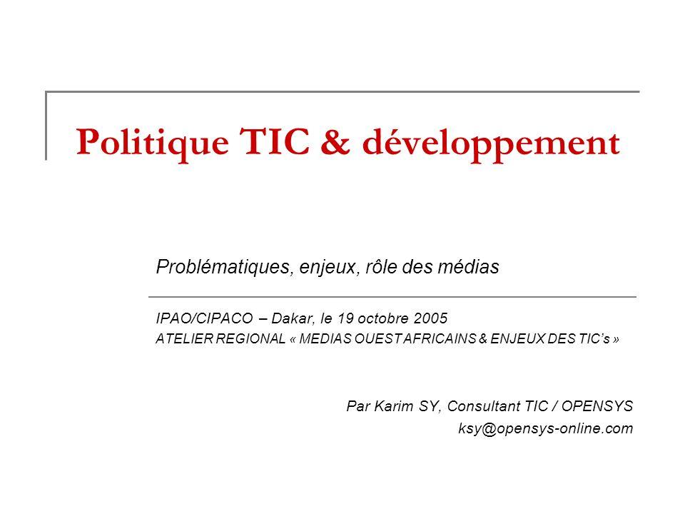 Politique TIC & développement