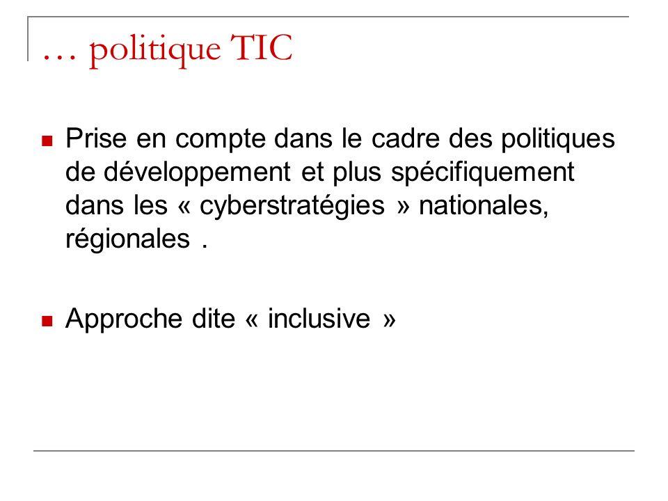 … politique TIC
