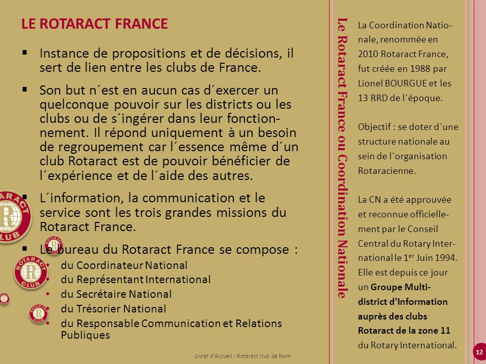 Le Rotaract France ou Coordination Nationale