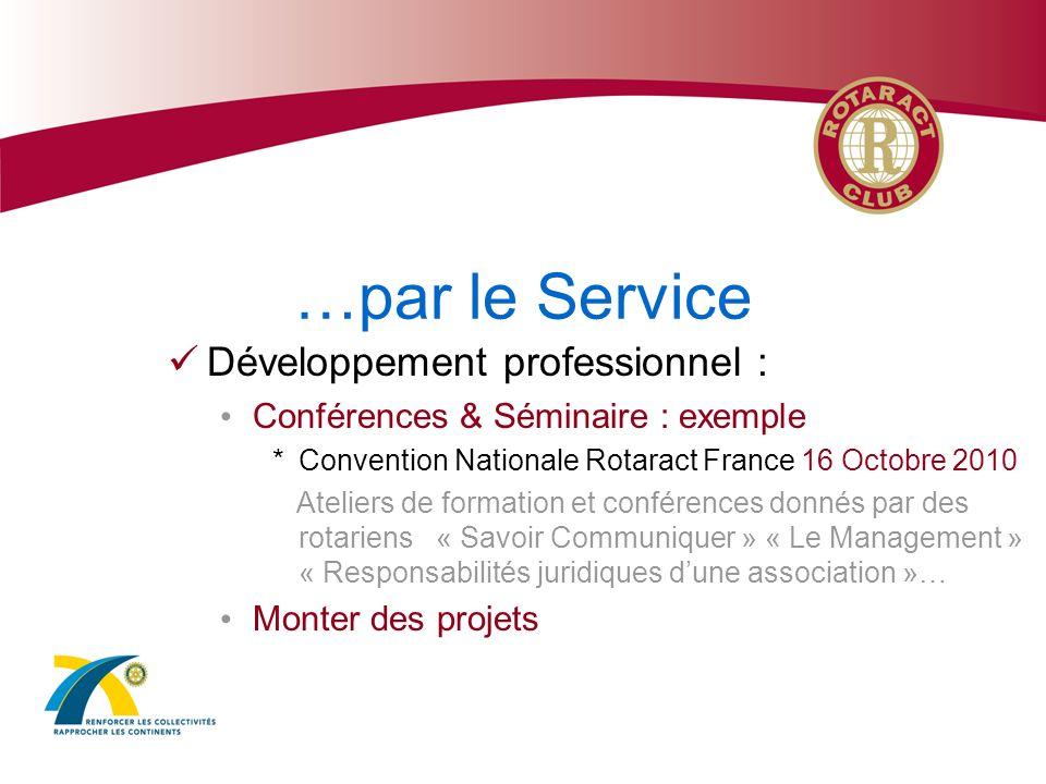 …par le Service Développement professionnel :