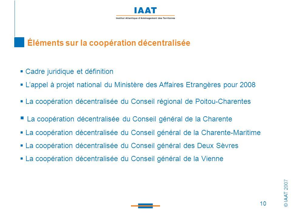 La coopération décentralisée du Conseil général de la Charente