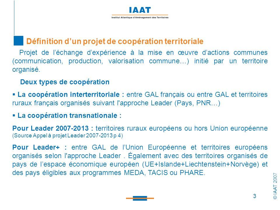 Définition d'un projet de coopération territoriale