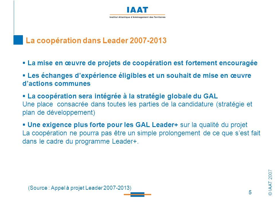 La coopération dans Leader 2007-2013