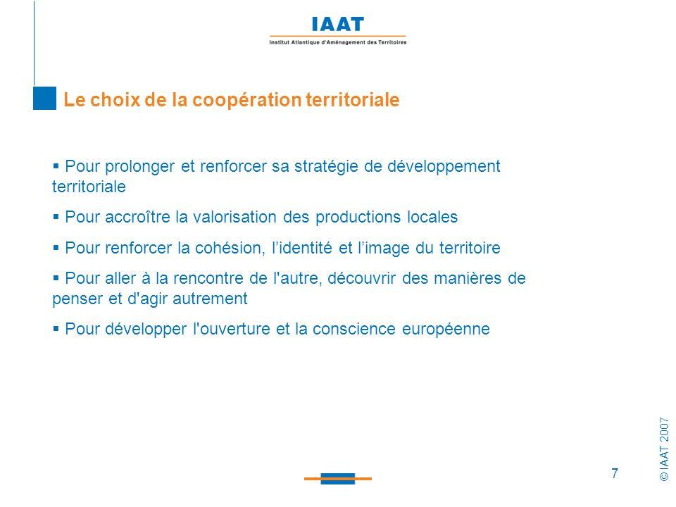 Le choix de la coopération territoriale