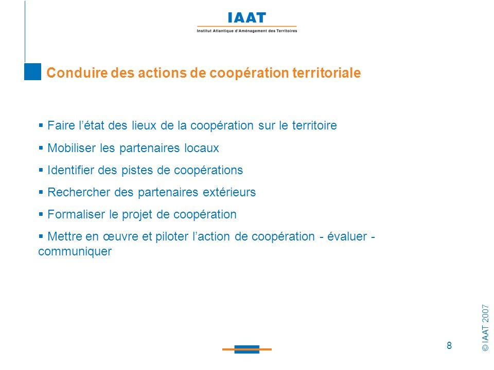 Conduire des actions de coopération territoriale