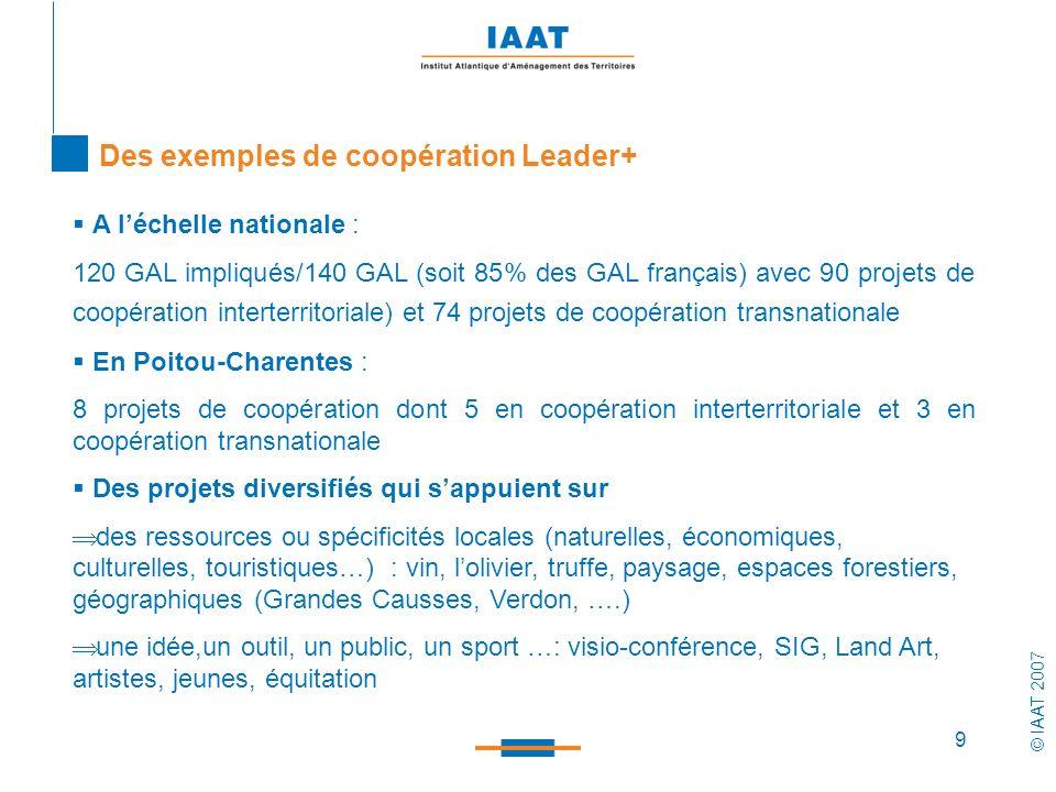 Des exemples de coopération Leader+