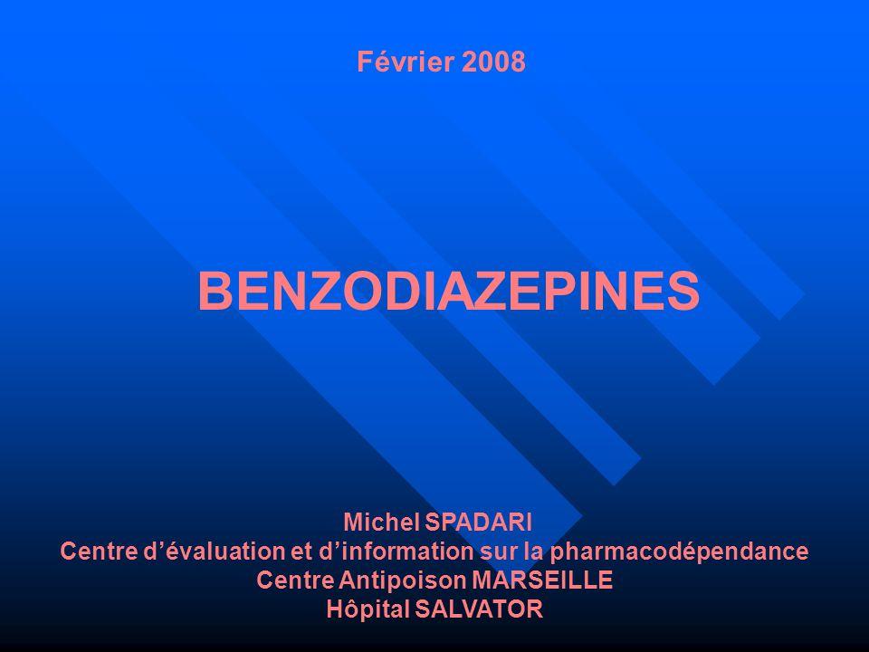 BENZODIAZEPINES Février 2008