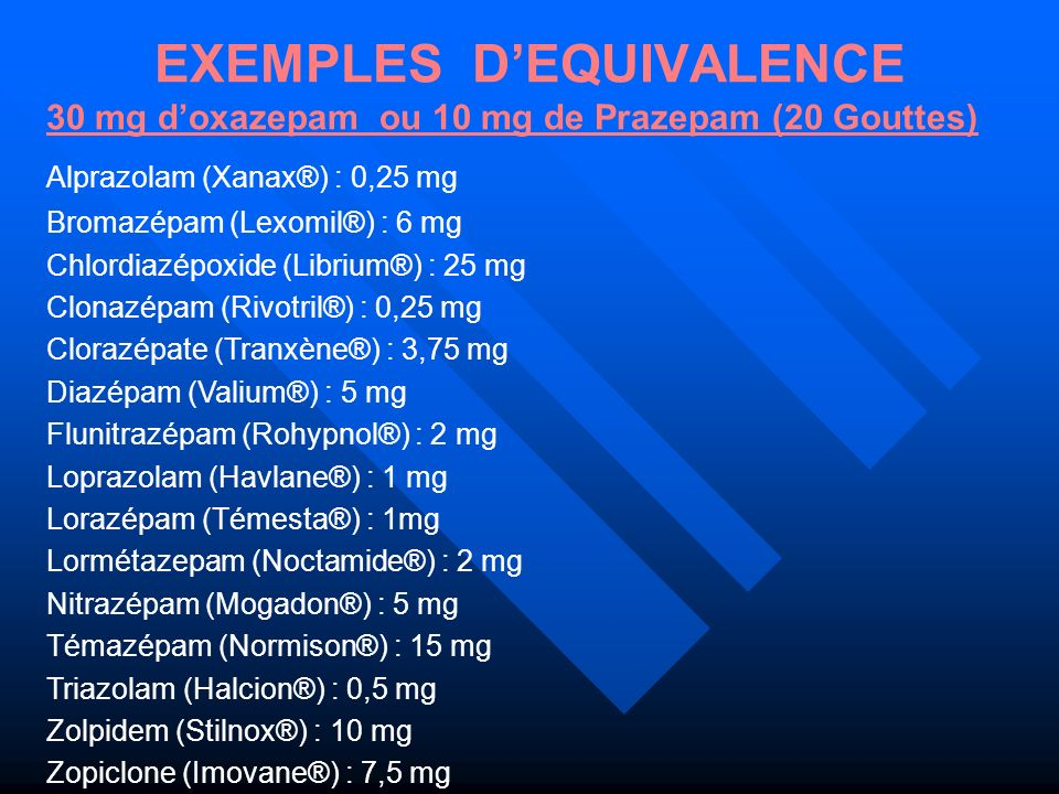 EXEMPLES D'EQUIVALENCE