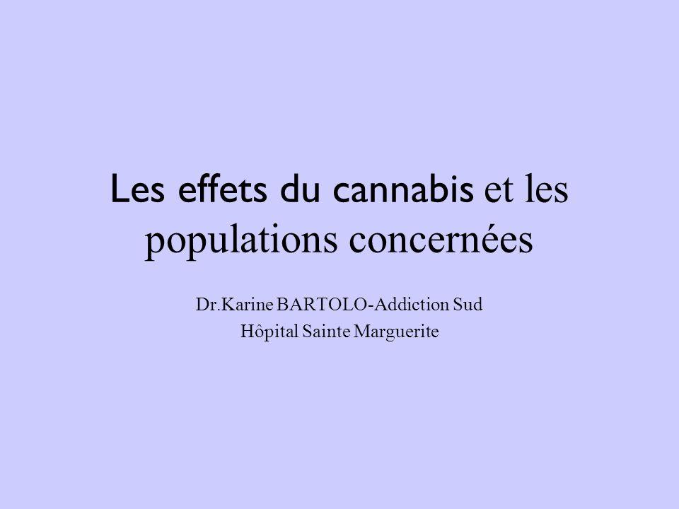 Les effets du cannabis et les populations concernées