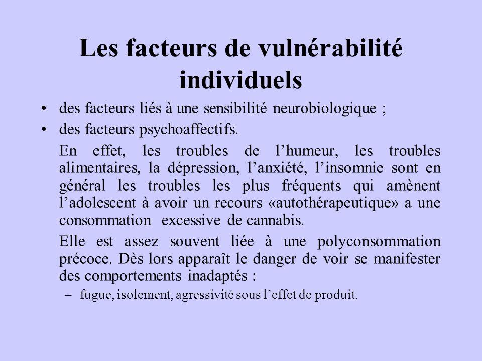 Les facteurs de vulnérabilité individuels
