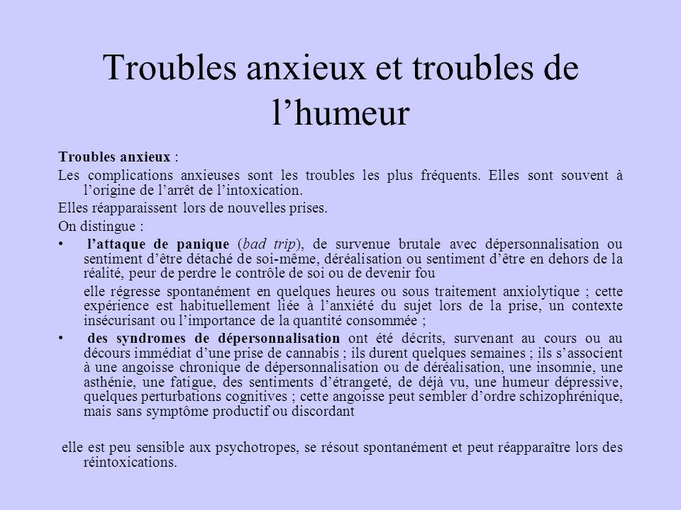 Troubles anxieux et troubles de l'humeur