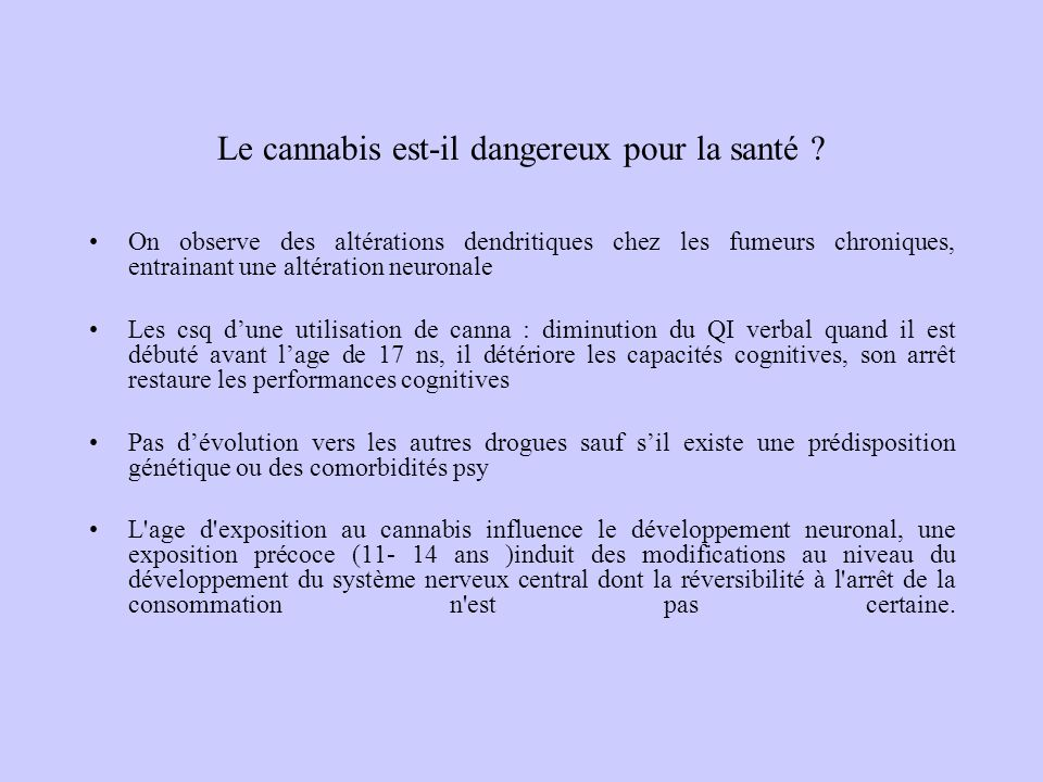 Le cannabis est-il dangereux pour la santé
