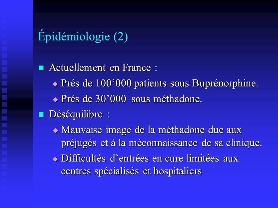 Épidémiologie (2) Actuellement en France :