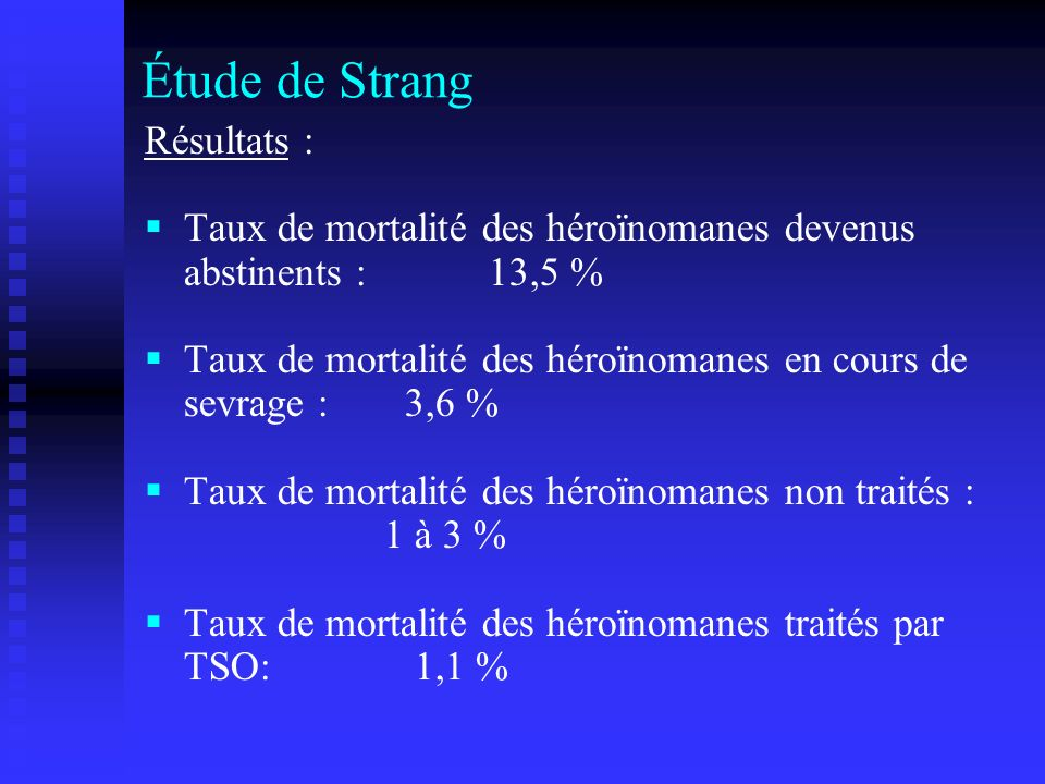 Étude de Strang Résultats :
