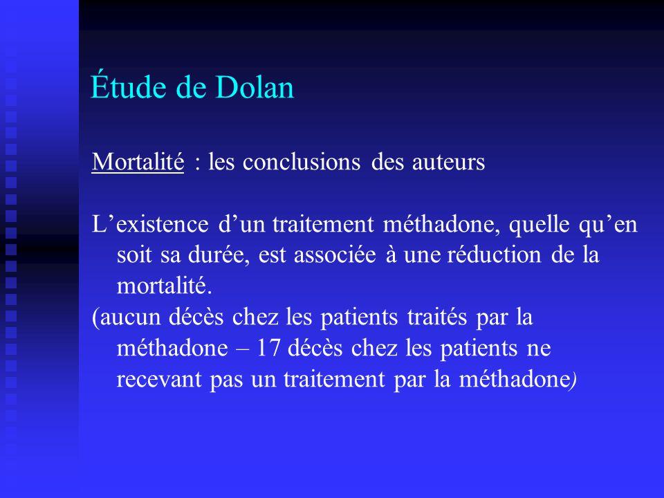 Étude de Dolan Mortalité : les conclusions des auteurs