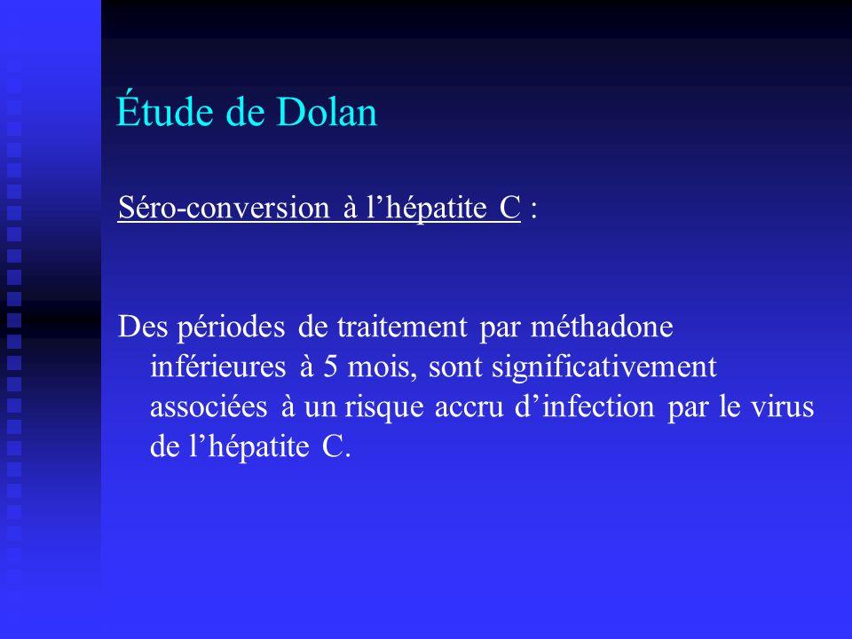 Étude de Dolan Séro-conversion à l'hépatite C :