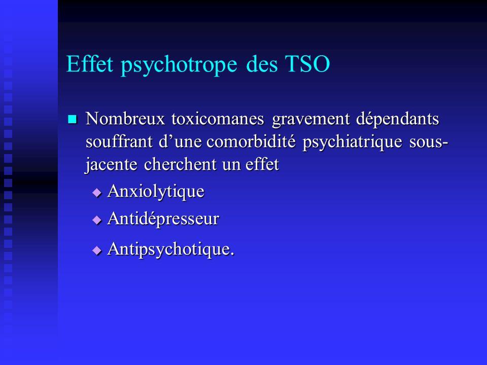 Effet psychotrope des TSO
