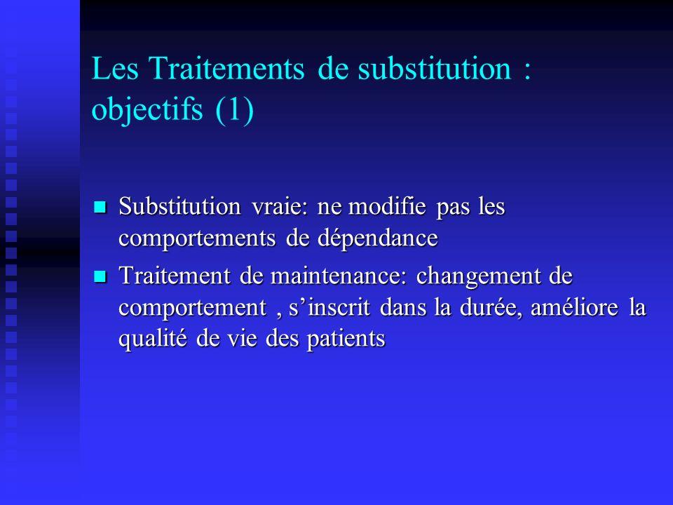 Les Traitements de substitution : objectifs (1)