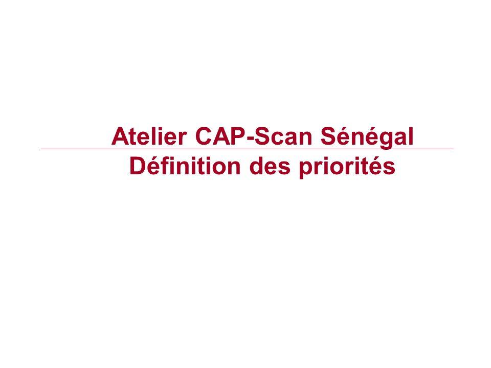 Atelier CAP-Scan Sénégal Définition des priorités