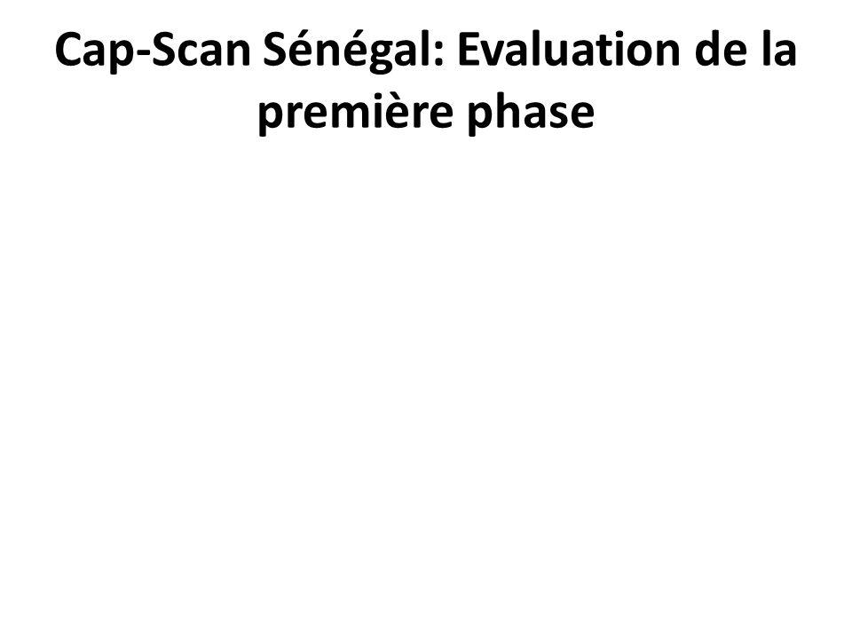 Cap-Scan Sénégal: Evaluation de la première phase