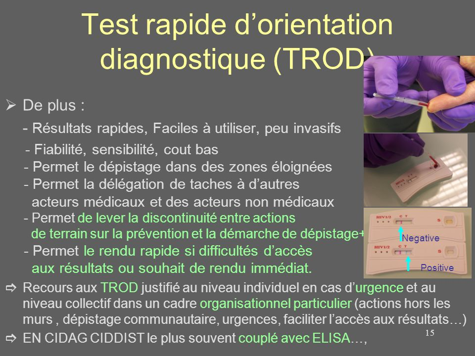 Test rapide d'orientation diagnostique (TROD)