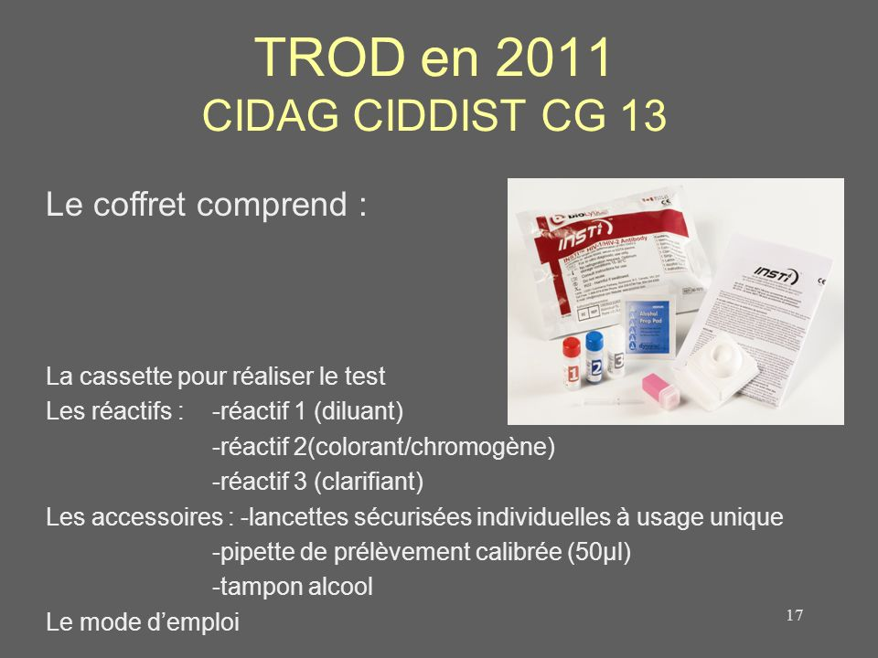 TROD en 2011 CIDAG CIDDIST CG 13