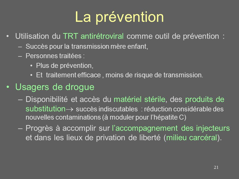 La prévention Usagers de drogue