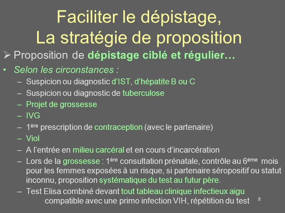 Faciliter le dépistage, La stratégie de proposition