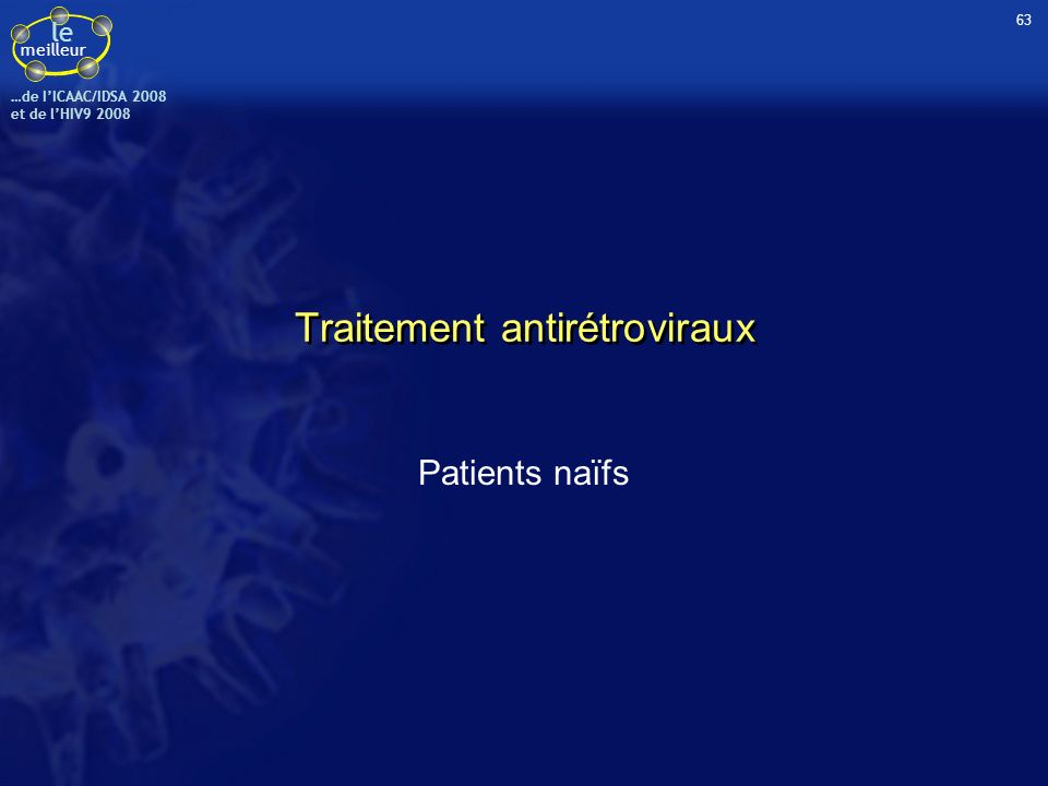 Traitement antirétroviraux