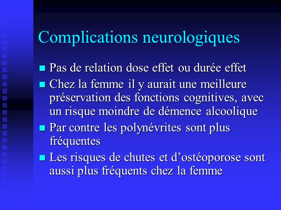 Complications neurologiques