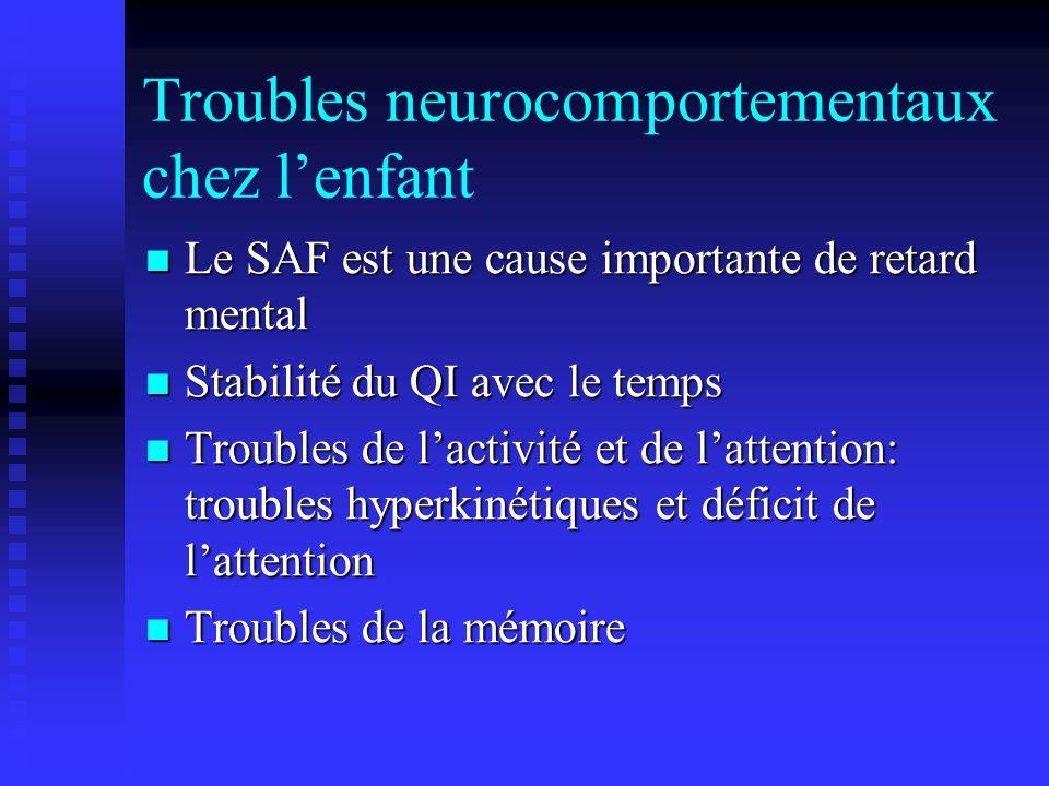 Troubles neurocomportementaux chez l'enfant