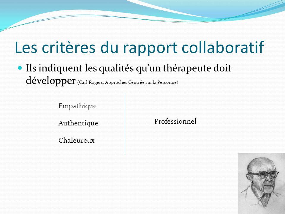 Les critères du rapport collaboratif