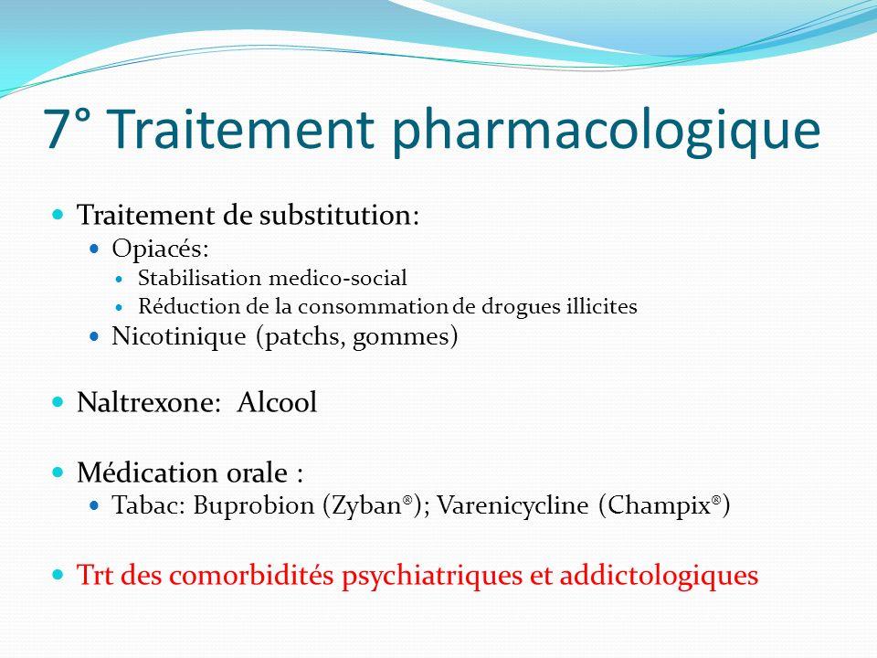 7° Traitement pharmacologique