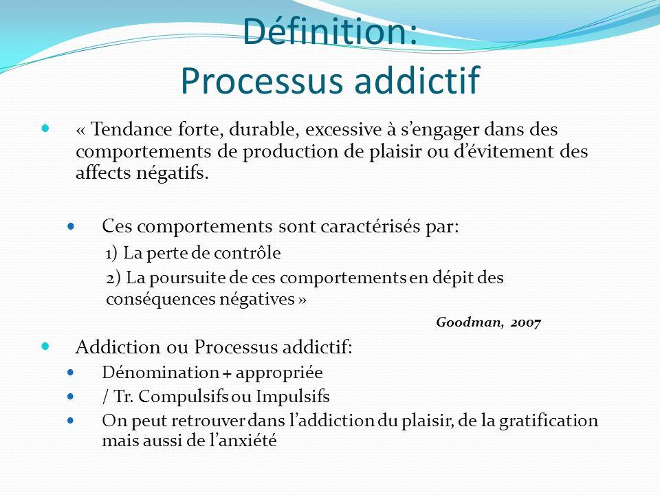 Définition: Processus addictif