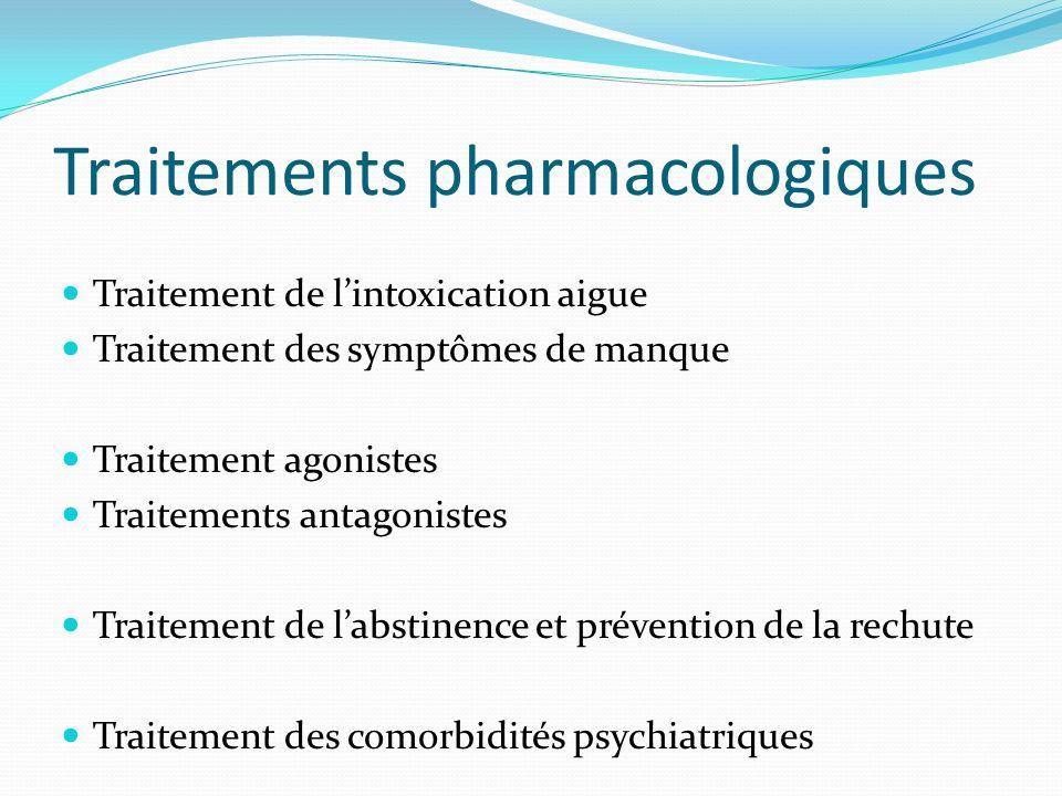 Traitements pharmacologiques