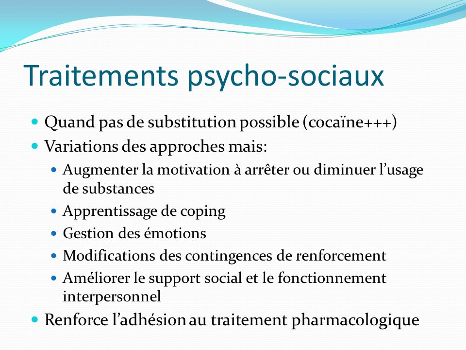 Traitements psycho-sociaux