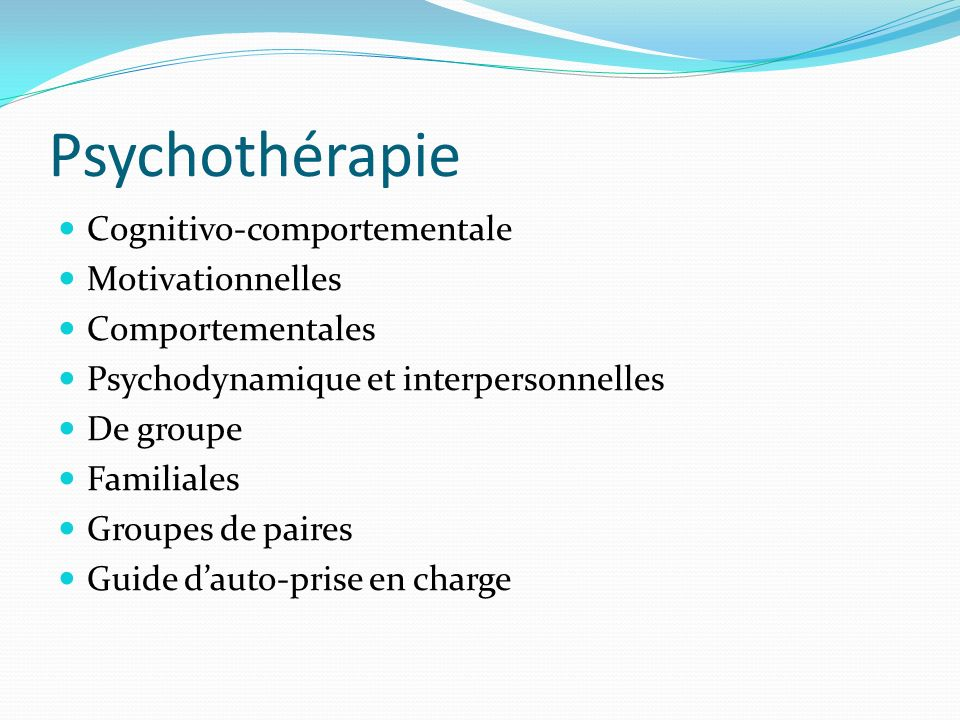 Psychothérapie Cognitivo-comportementale Motivationnelles