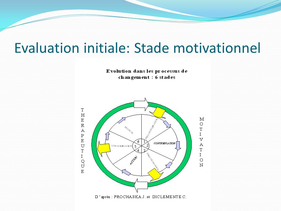 Evaluation initiale: Stade motivationnel