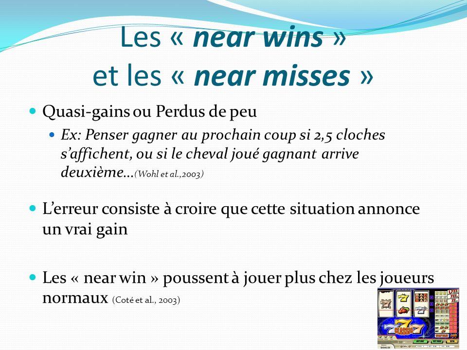 Les « near wins » et les « near misses »