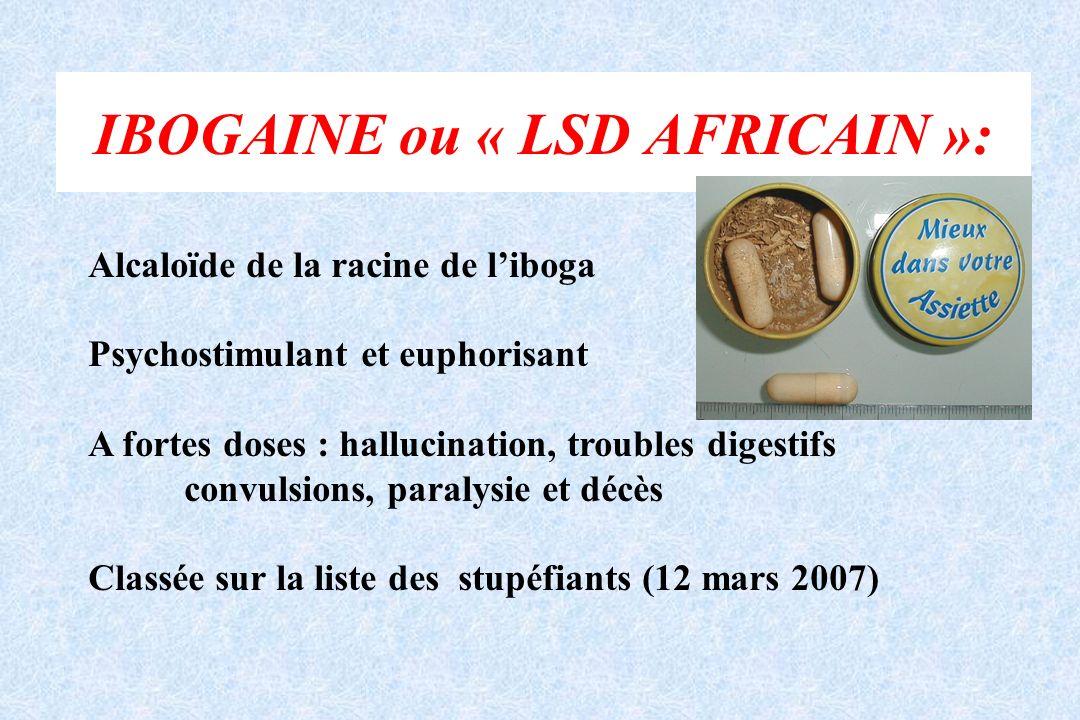 IBOGAINE ou « LSD AFRICAIN »: