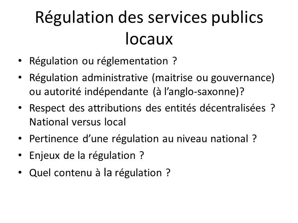 Régulation des services publics locaux