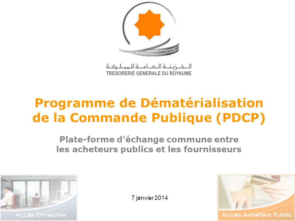 Programme de Dématérialisation de la Commande Publique (PDCP)