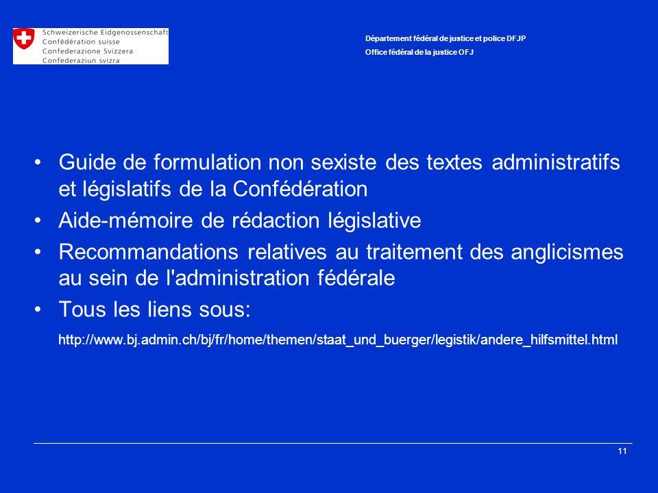 Aide-mémoire de rédaction législative