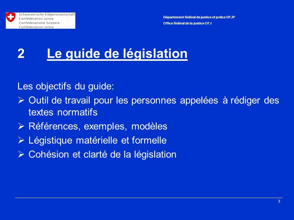 2 Le guide de législation