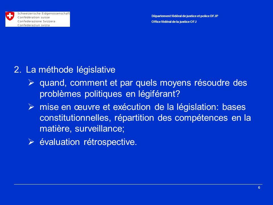 2. La méthode législative