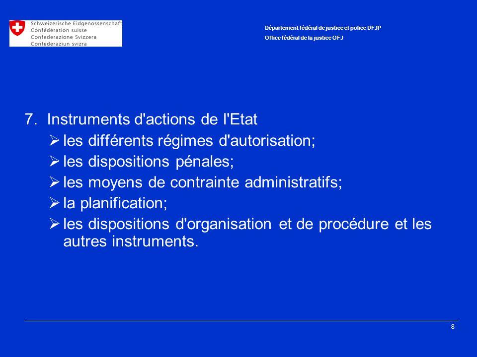 7. Instruments d actions de l Etat